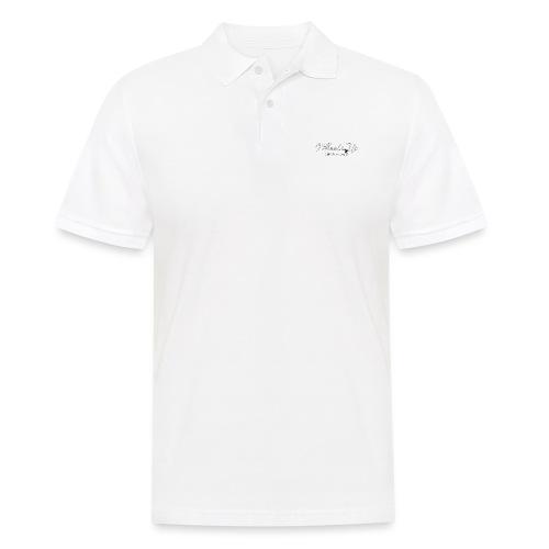 wheels up black figure - Men's Polo Shirt