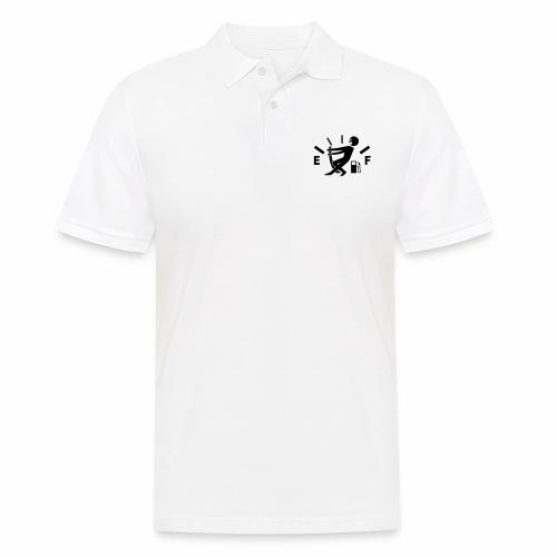 Empty tank - no fuel - fuel gauge - Men's Polo Shirt