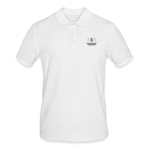 Teknoantropologisk Støtte T-shirt figur syet - Herre poloshirt