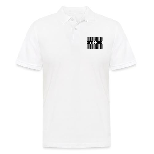 BARCODE WHITE - Men's Polo Shirt