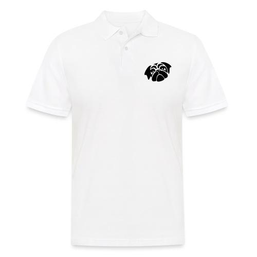 Mops mit schiefen Gesicht - Männer Poloshirt