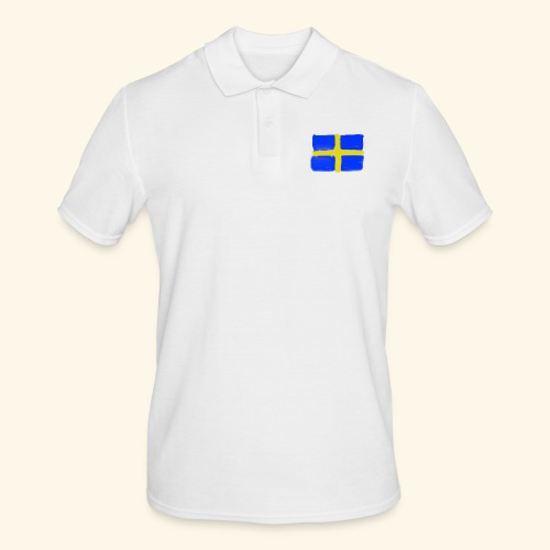 Swedish flag in Watercolours - Pikétröja herr