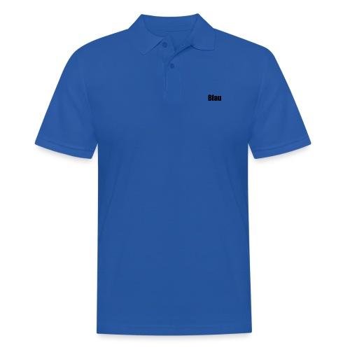 Blau - Männer Poloshirt