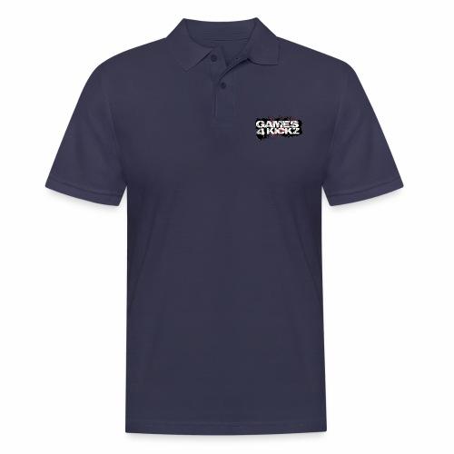 Games4Kickz Logo Splattered Background - Men's Polo Shirt