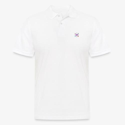 MP logo with social media icons - Men's Polo Shirt