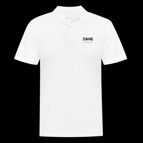 Stu Armstrong Media Black Logo - Men's Polo Shirt