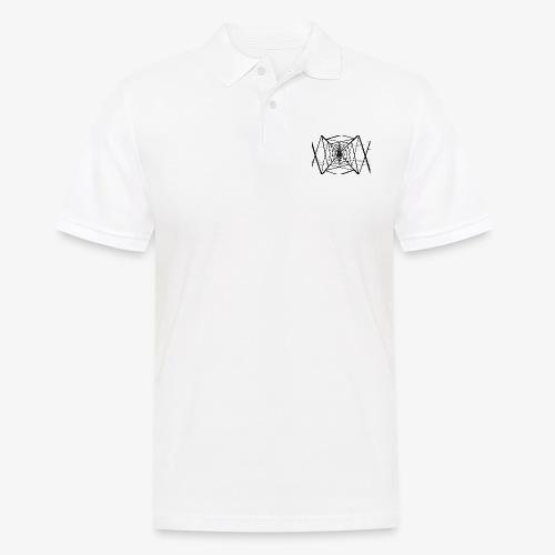 Quermast V2 Schwarz - Männer Poloshirt