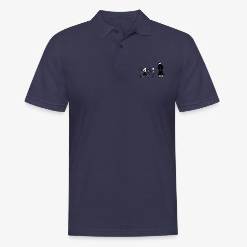 Pissing Man against human self-destruction - Männer Poloshirt