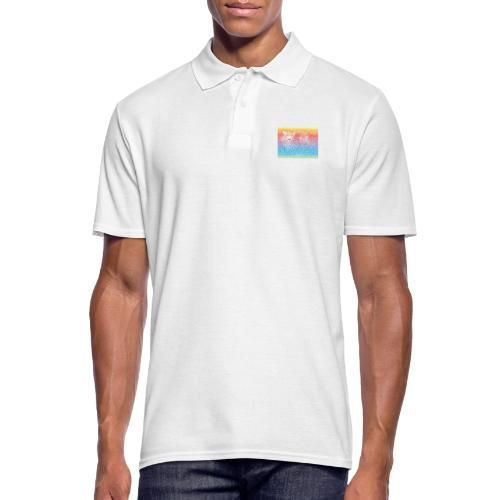 Leopard rainbow pattern background - Männer Poloshirt