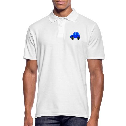 The Car Of Life - M01, Sacred Shapes, Blue/R01. - Men's Polo Shirt