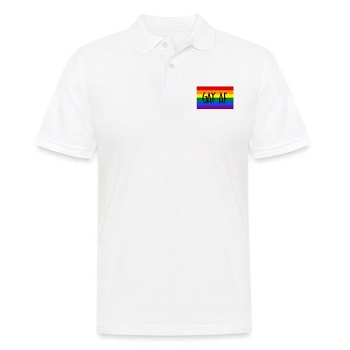 gay af - Männer Poloshirt