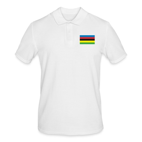 Cycling_World_Champion_Rainbow_Stripes-png - Mannen poloshirt