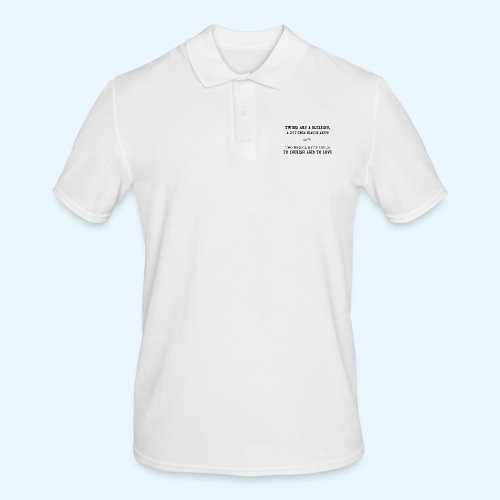 Twins are a blessing - Mannen poloshirt