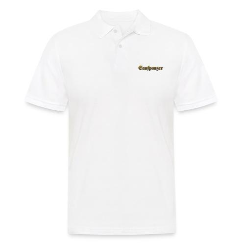 Saufpanzer_Schriftzug_Gold - Männer Poloshirt