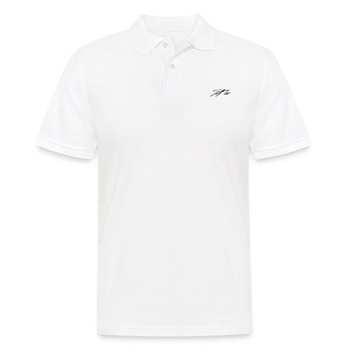 JeffTec Signature Logo White - Men's Polo Shirt
