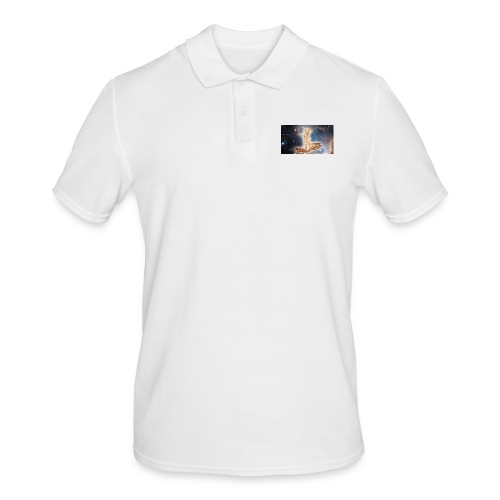Space Cat On a Piece O' Bacon - Men's Polo Shirt