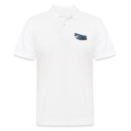 Mobile Crane 4-axle - Blue - Men's Polo Shirt