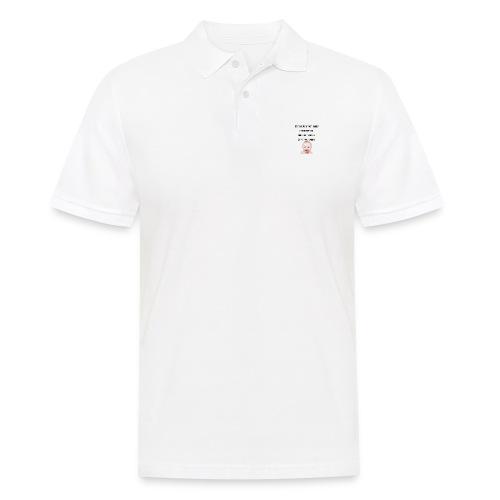 daddy tshirt sort tekst - Men's Polo Shirt
