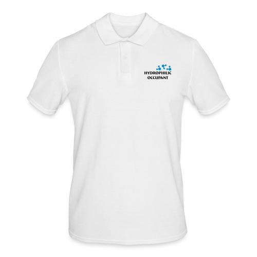 Hydrophilic Occupant (2 colour vector graphic) - Men's Polo Shirt