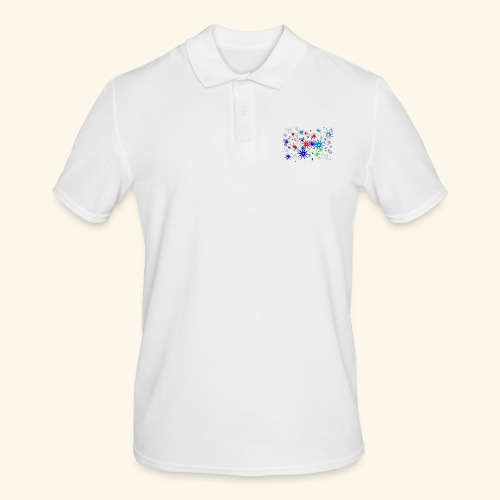Star Snowflakes falling colourful - Men's Polo Shirt