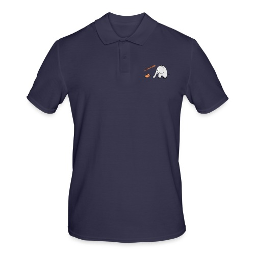 Elephant and mouse, friends - Men's Polo Shirt
