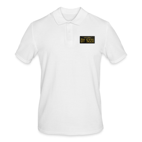 CALIFORNIA BLACK LICENCE PLATE - Men's Polo Shirt