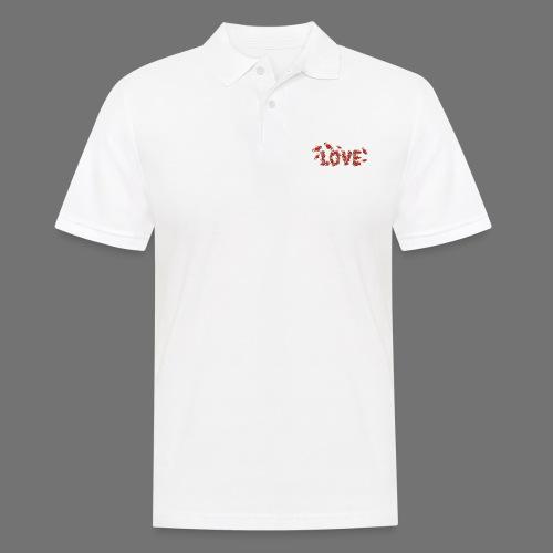 Fliegende Herzen LOVE - Männer Poloshirt