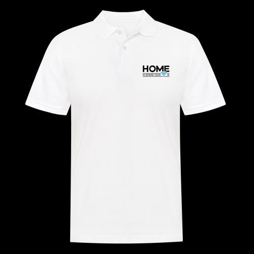 home is where … wi-fi - Männer Poloshirt