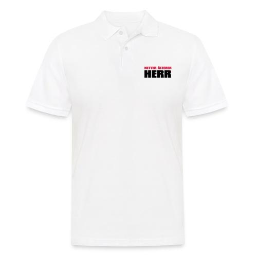 Netter älterter Herr - Männer Poloshirt