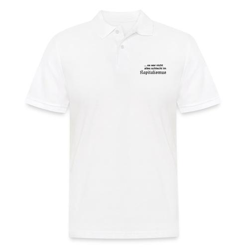 Kapitalismus (schwarz) - Männer Poloshirt