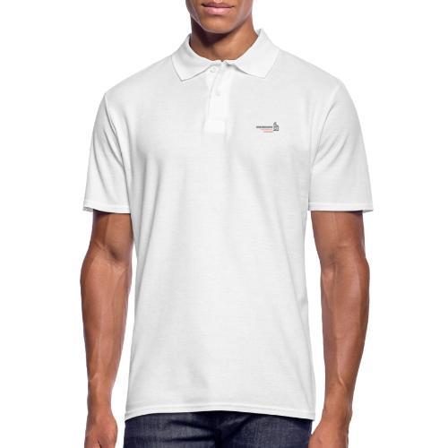 black simple radio outline - Männer Poloshirt
