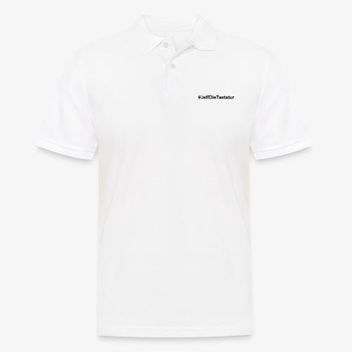 hashtag jeffdietastatur schwarz - Männer Poloshirt