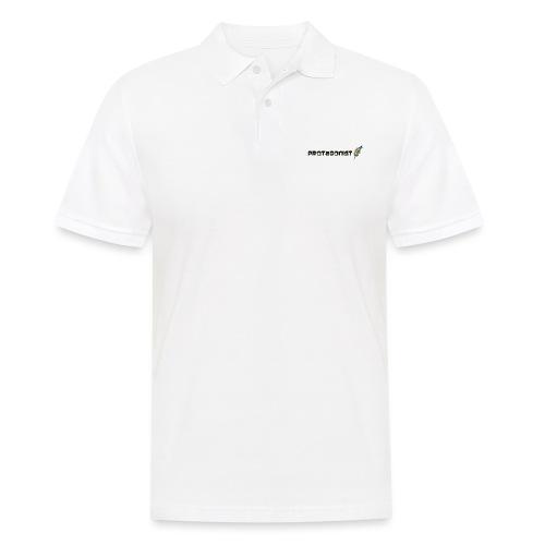 protagonist feder black - Männer Poloshirt