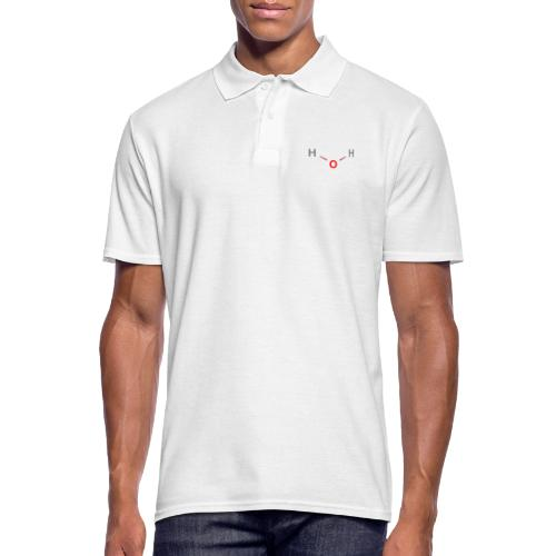 Water Molecule - Colored Structural Formula - Herre poloshirt