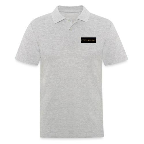 orange writing on black - Men's Polo Shirt