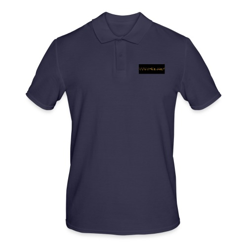 orange writing on black - Men's Polo Shirt