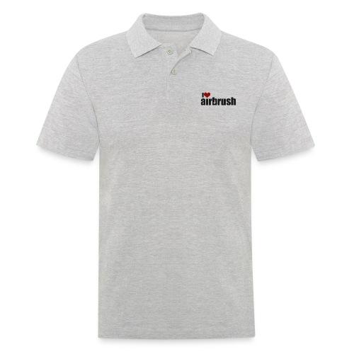 I Love airbrush - Männer Poloshirt