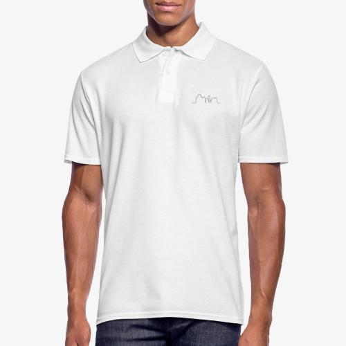 Kontur der Externsteine - Männer Poloshirt