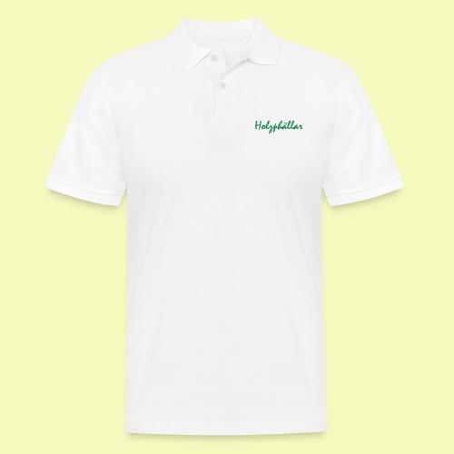 Schriftzug Grün - Männer Poloshirt