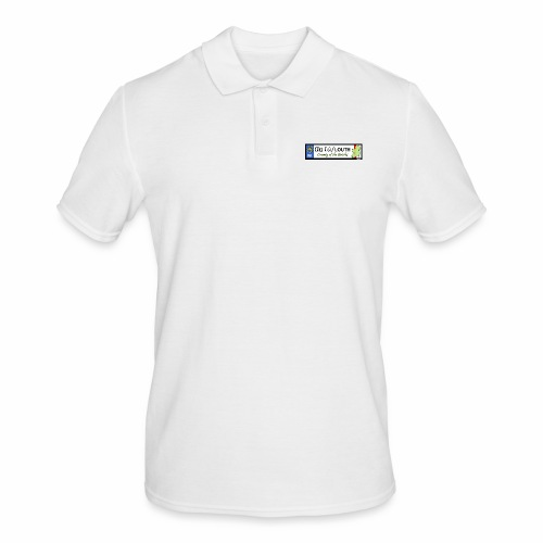 CO. LOUTH, IRELAND: licence plate tag style decal - Men's Polo Shirt