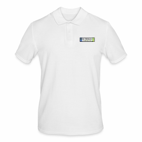 CO. MEATH, IRELAND: licence plate tag style decal - Men's Polo Shirt
