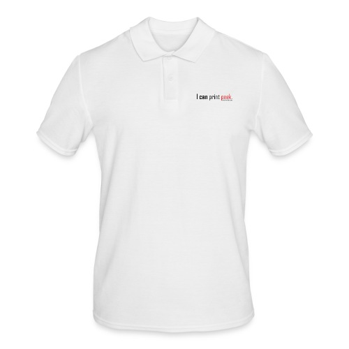 I can print peek. - Men's Polo Shirt