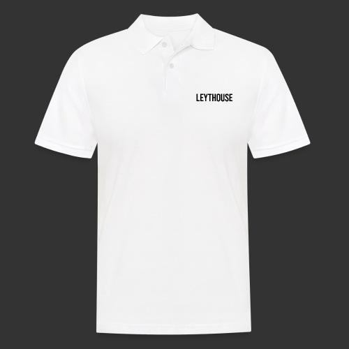 LEYTHOUSE main logo black - Men's Polo Shirt