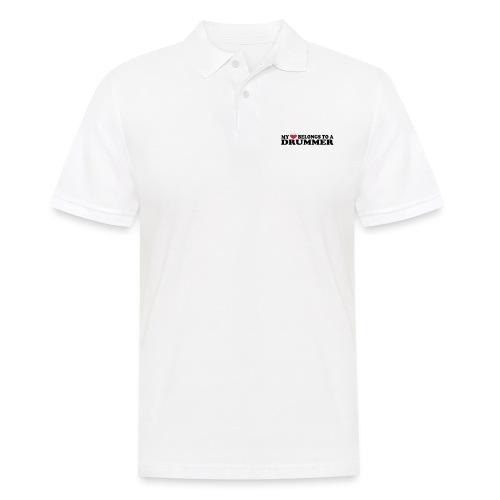 MY HEART BELONGS TO A DRUMMER - Poloskjorte for menn