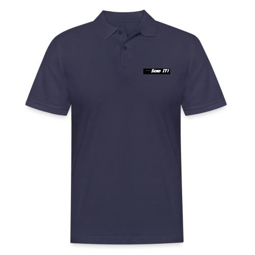send it logo black and white - Men's Polo Shirt