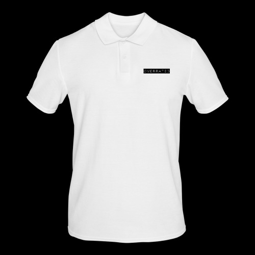 Overrated Black white - Mannen poloshirt