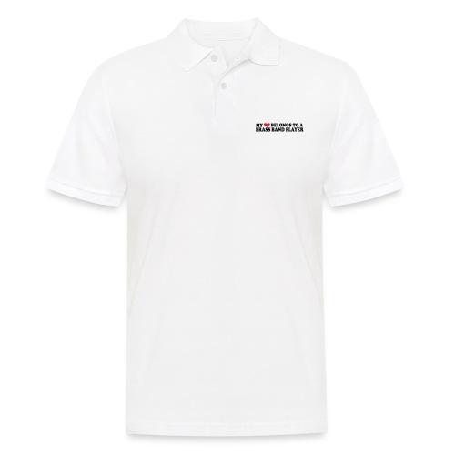 MY HEART BELONGS TO A BRASS BAND PLAYER - Men's Polo Shirt