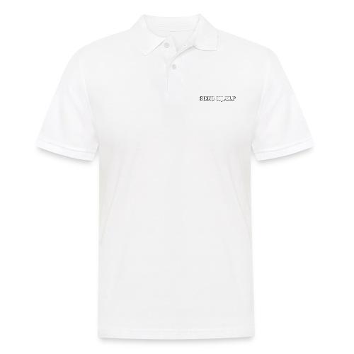 SEND HJÆLP T-shirt - Herre poloshirt