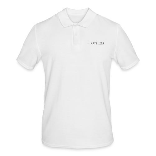 I Love You by The Nerved Corporation - Men's Polo Shirt