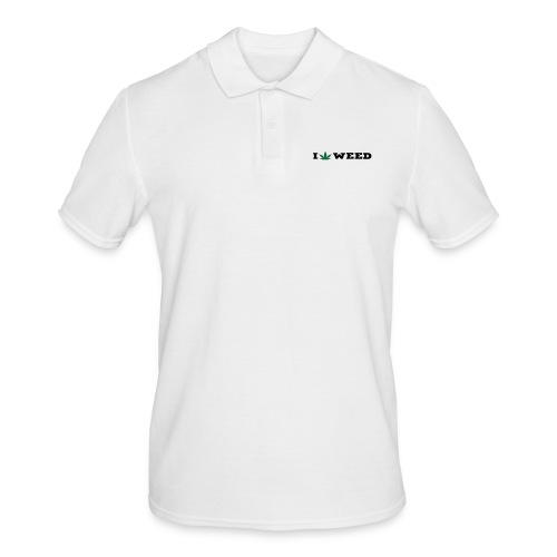 I LOVE WEED - Men's Polo Shirt